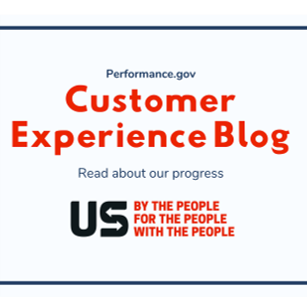 Image that says Customer Experience Blog